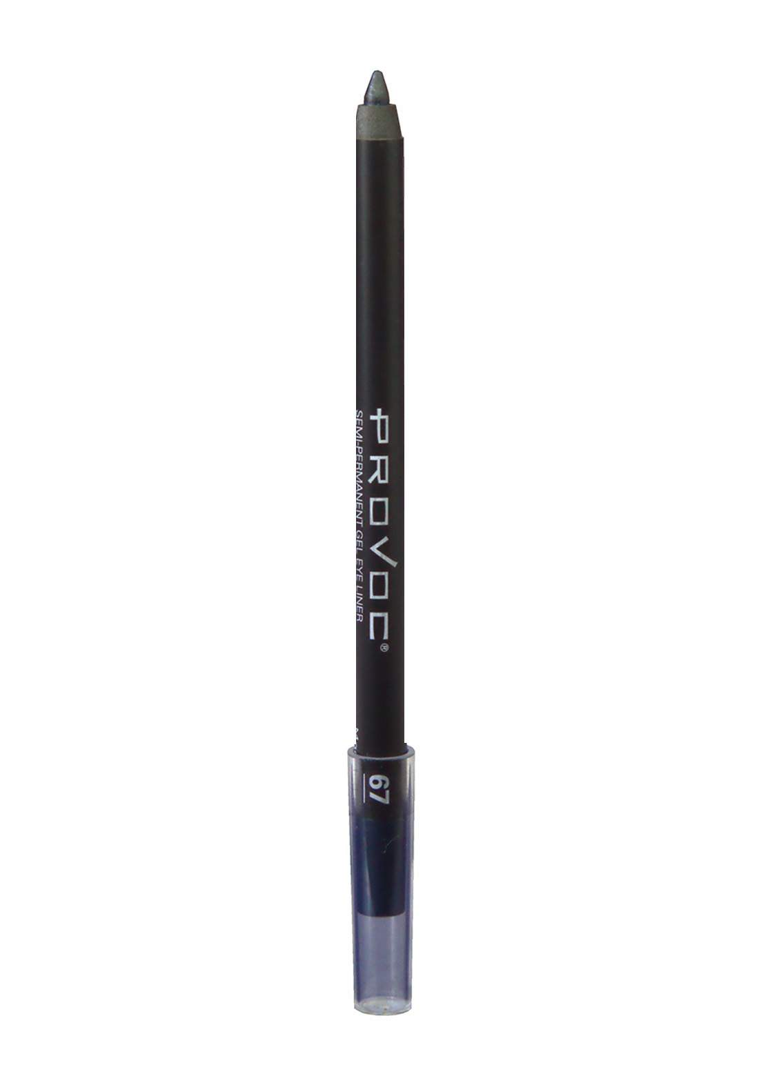 Provoc 353-0057 Semi-Permanent Gel Eye Liner  pencil No.67 Magnetic قلم محدد العيون