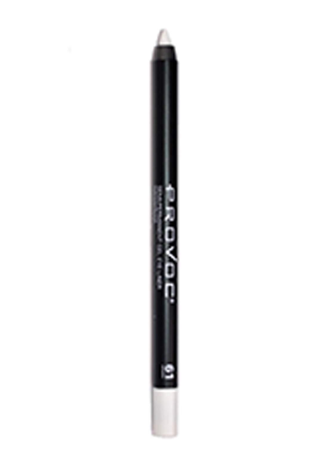 Provoc 353-0062 Semi-Permanent Gel Eye Liner Pencil No.61 White Hot قلم محدد العيون