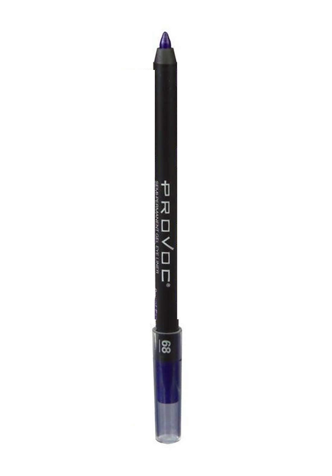 Provoc 353-0071 Semi-Permanent Gel Waterproof Eyeliner No.68 Royal Engagement قلم تحديد العيون
