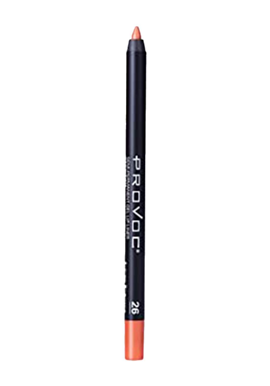 Provoc 353-0072 Semi-Permanent Gel Lip Liner Pencil No.26 محدد الشفاه