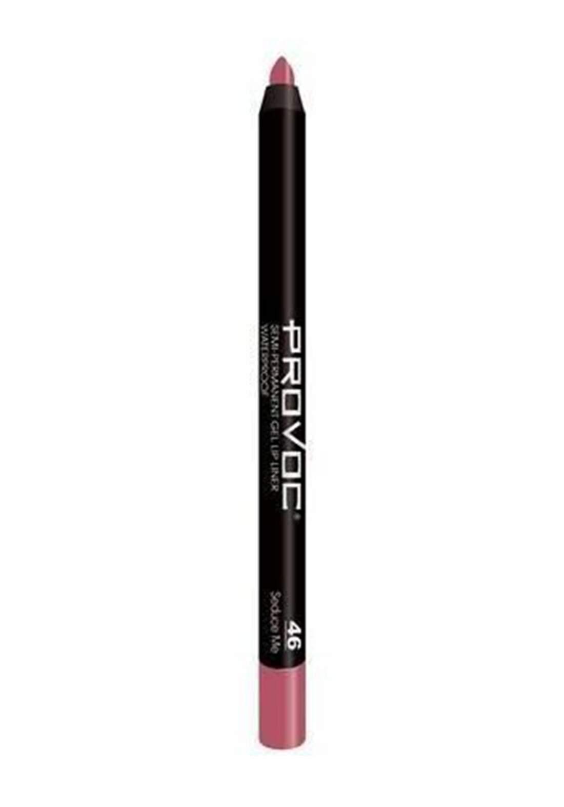 Provoc 353-0073 Semi-Permanent Gel Lip Liner Pencil No.46 محدد الشفاه
