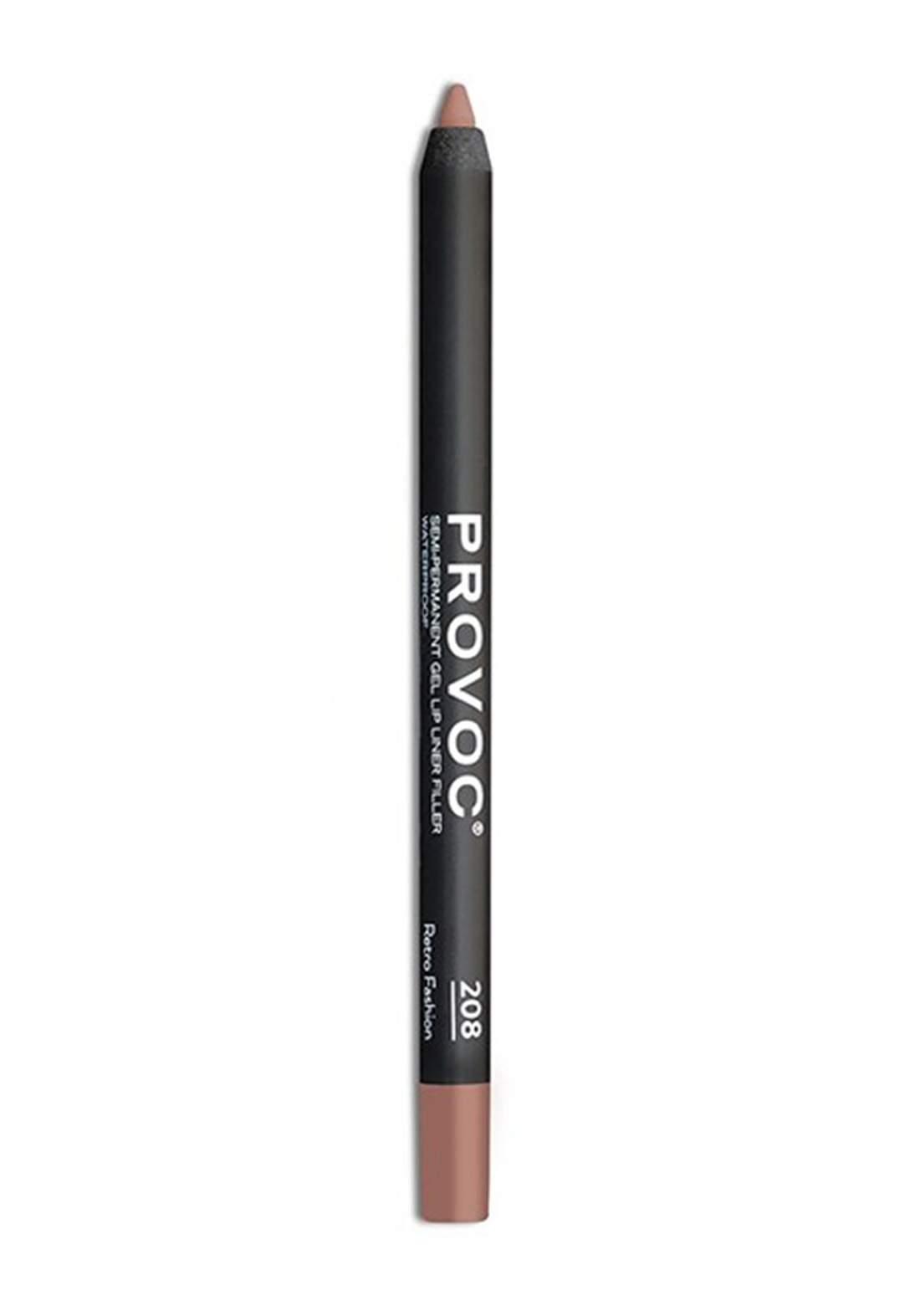 Provoc 353-0074 Semi-Permanent Gel Lip Liner Pencil No.208 محدد الشفاه