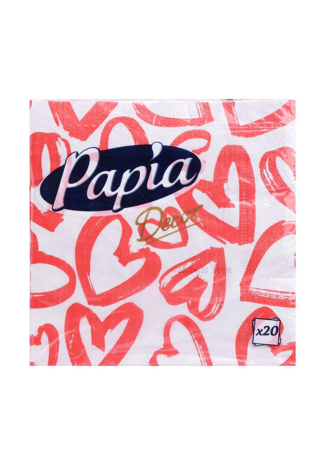 Papia Table 20 Sheets مناديل ورقية