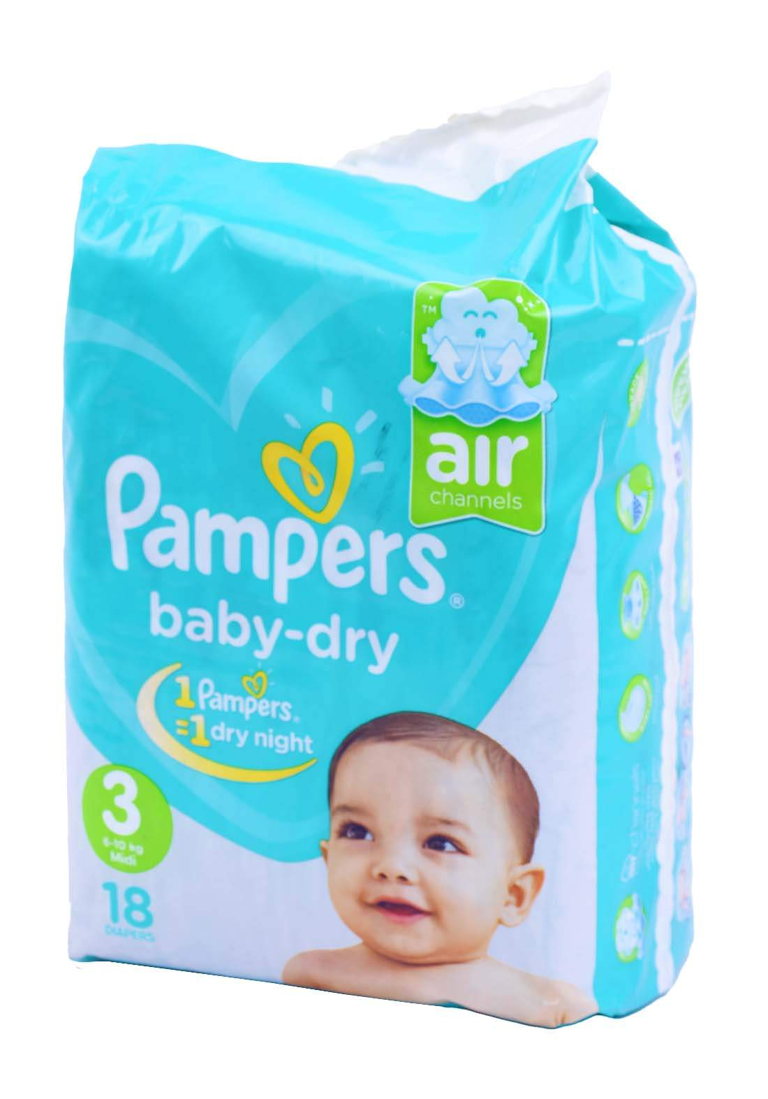 Pampers 6-10 Kg 18 Pcs حفاضات  بامبرز للاطفال عادي رقم 3