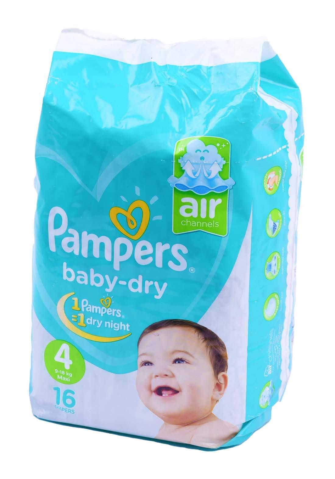 Pampers 9-18 Kg 16 Pcs حفاضات  بامبرز للاطفال عادي رقم 4