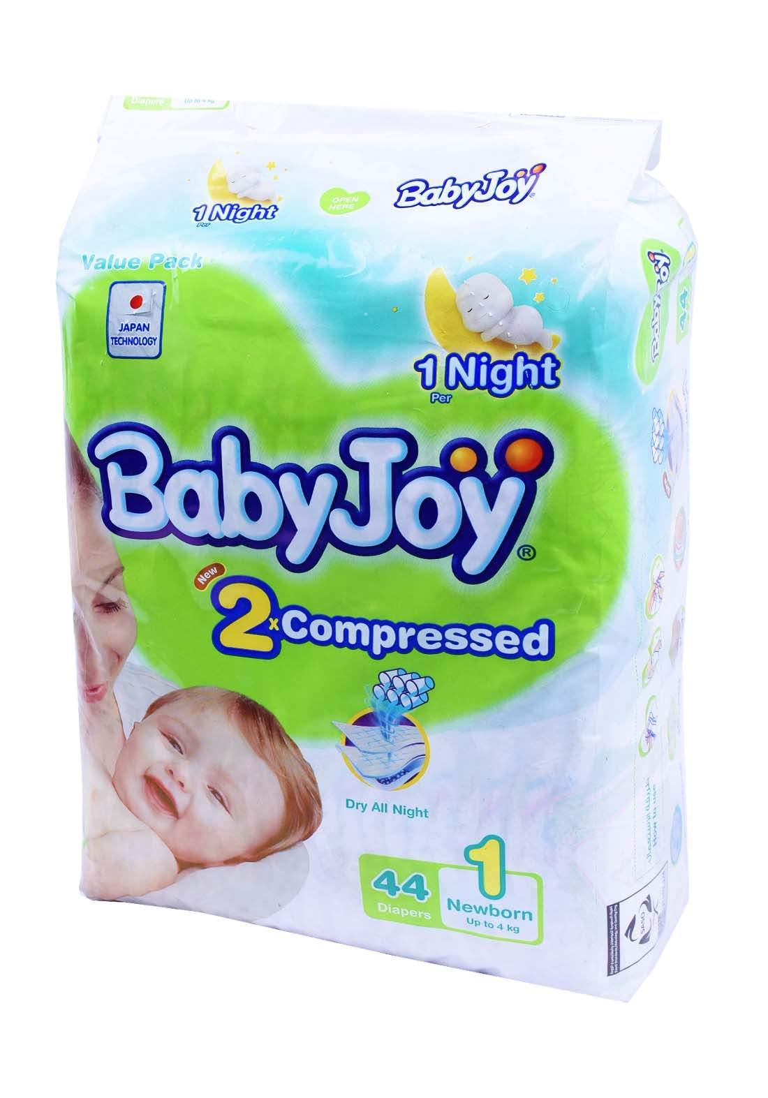 BabyJoy 0-4 Kg 44 Pcs حفاضات بيبي جوي للاطفال عادي رقم 2