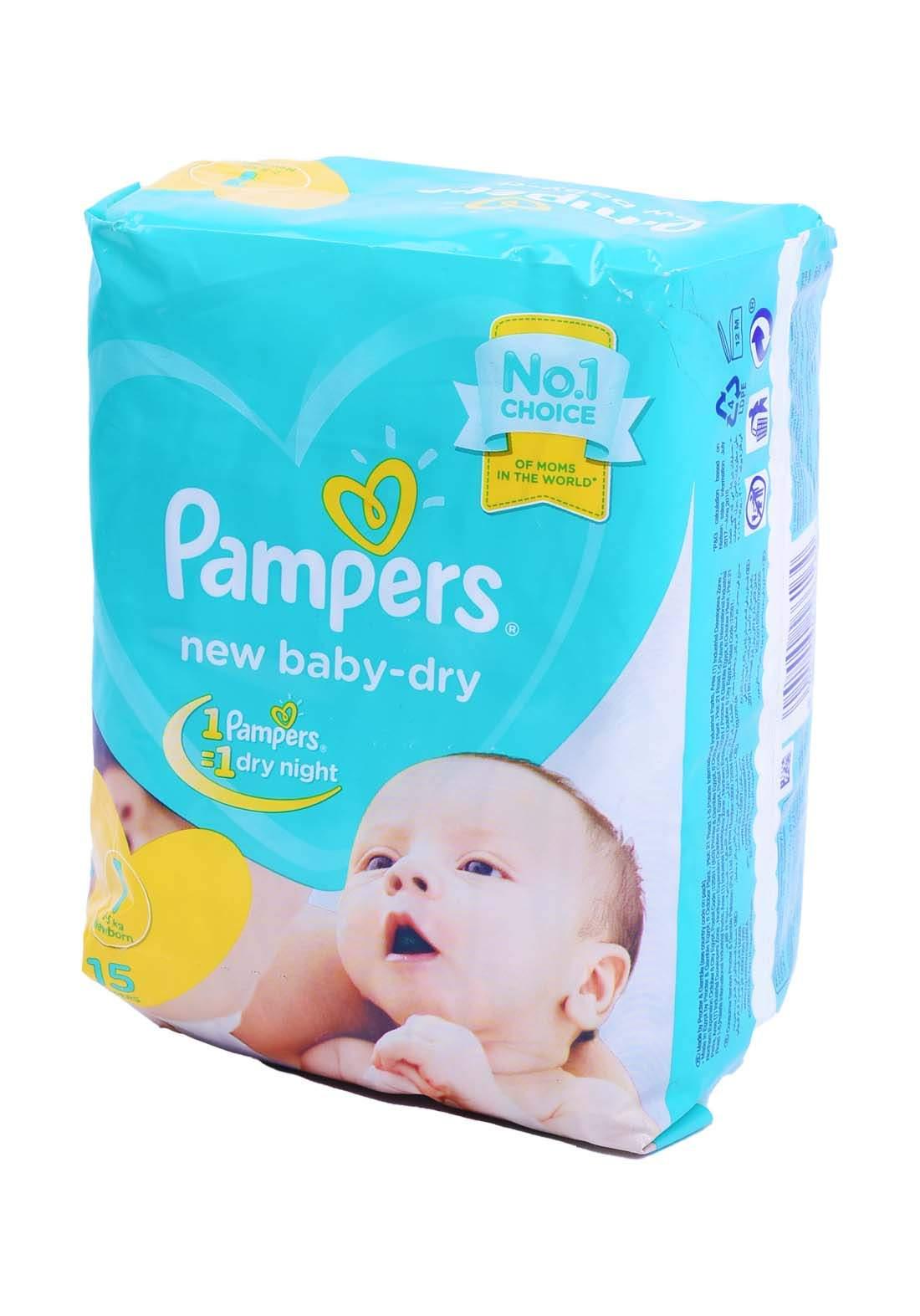 Pampers 2-5 Kg 15 Pcs حفاضات  بامبرز للاطفال عادي رقم 1