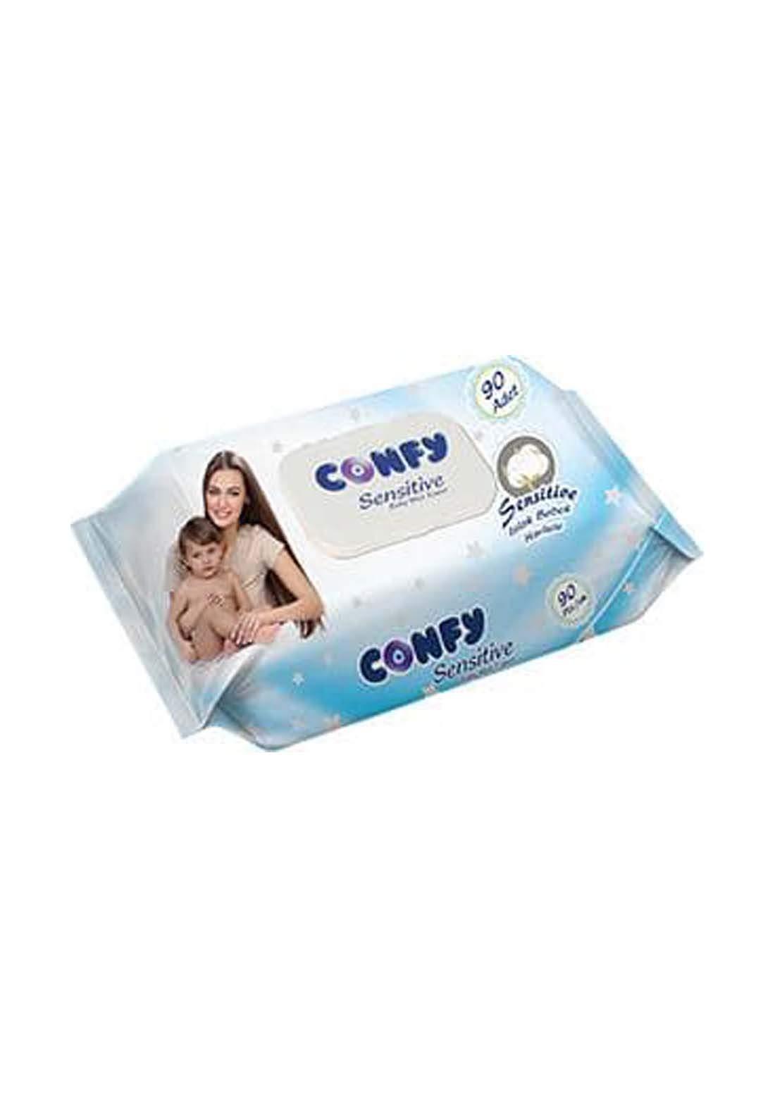 Confy Sensitive Baby Wet 90 pcs مناديل مبللة للبشرة الحساسة