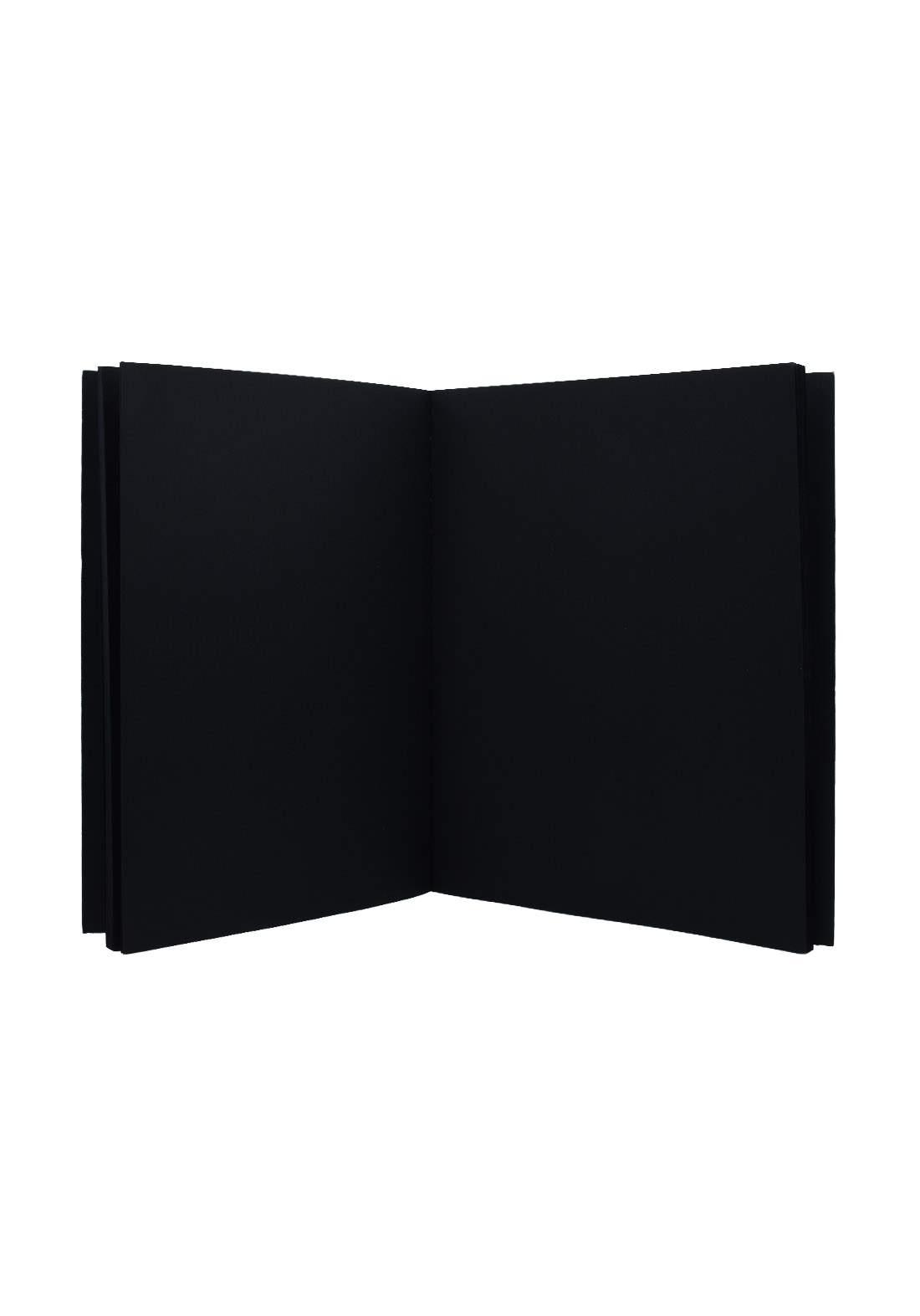 Black Drawing Book A4 80 Sheets (A4) دفتر رسم اسود 80ورقة