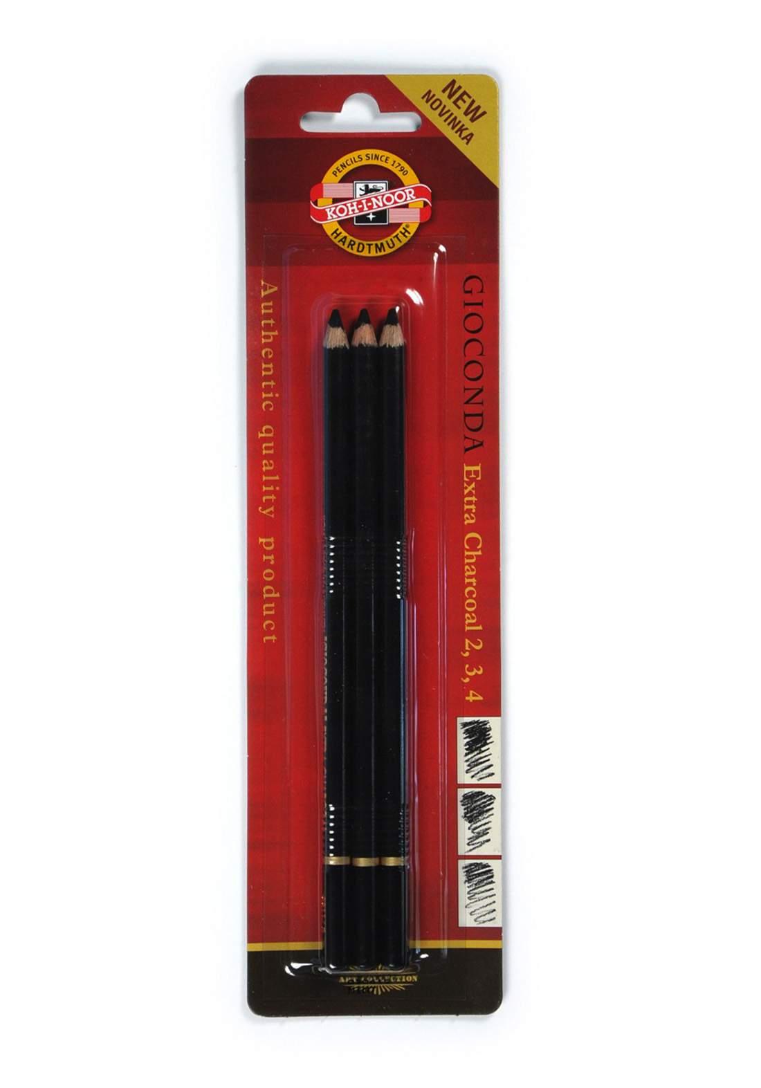 Koh-I-Noor Set Of 3 Charcoal Pencils -Blister سيت قلم فحم3 أقلام