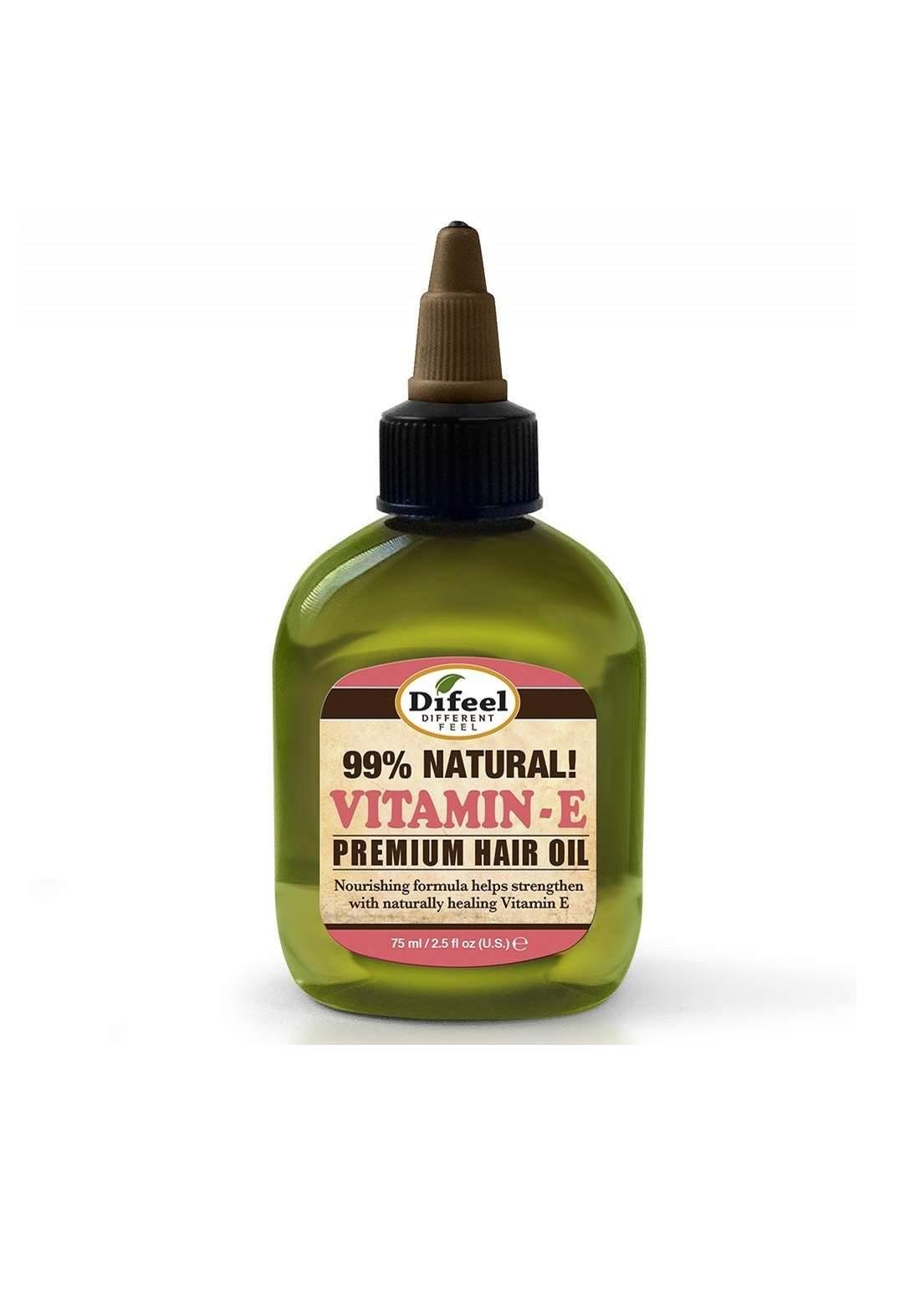 Difel Natural Hair Oil - Vitamin E Oil 75 ml زيت الشعر الطبيعي