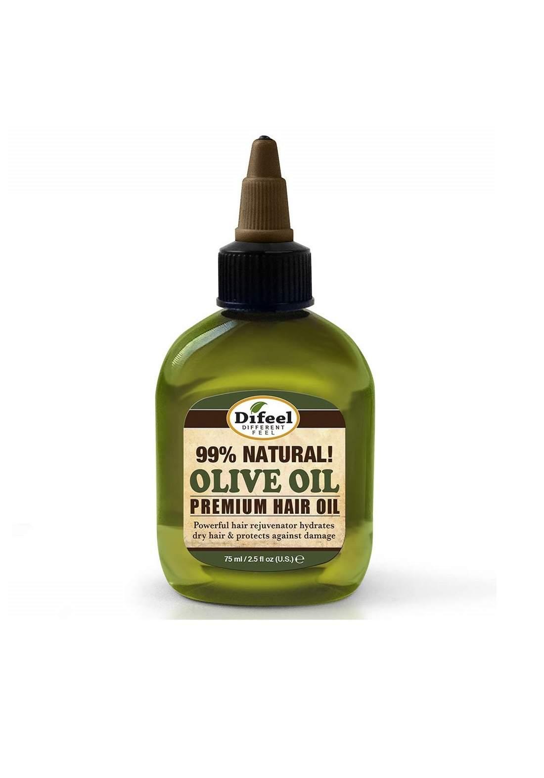 Difel Premium Natural Hair Oil - Olive Oil 75 ml زيت الشعر الطبيعي