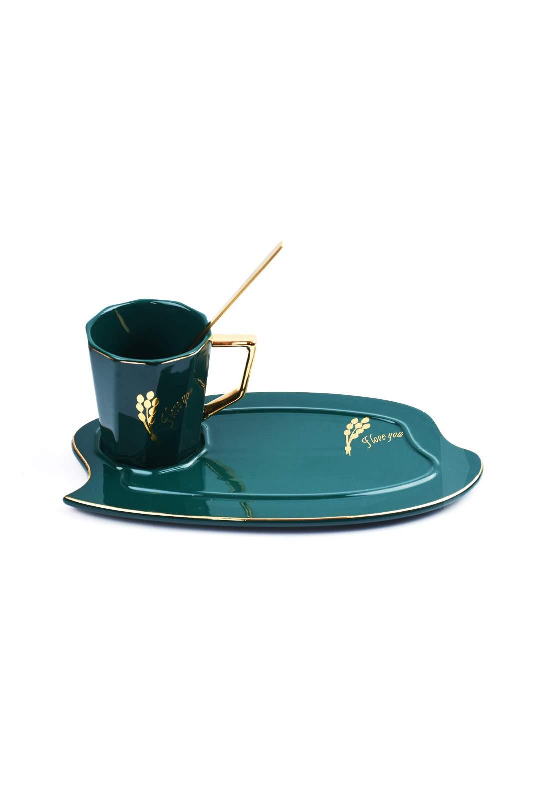 cup of coffee كوب قهوة زيتوني اللون