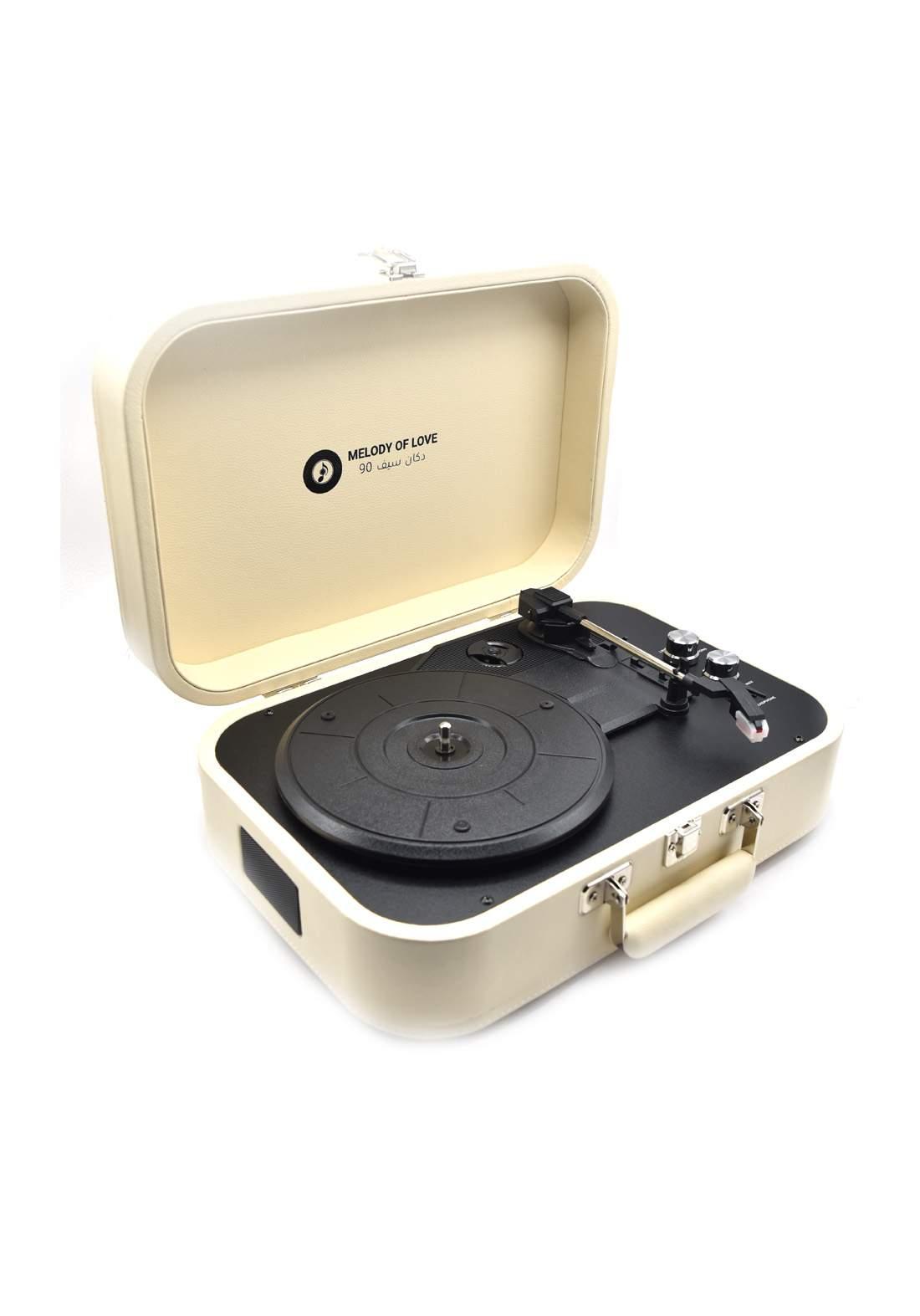 Retro Vinyl Player - Off White