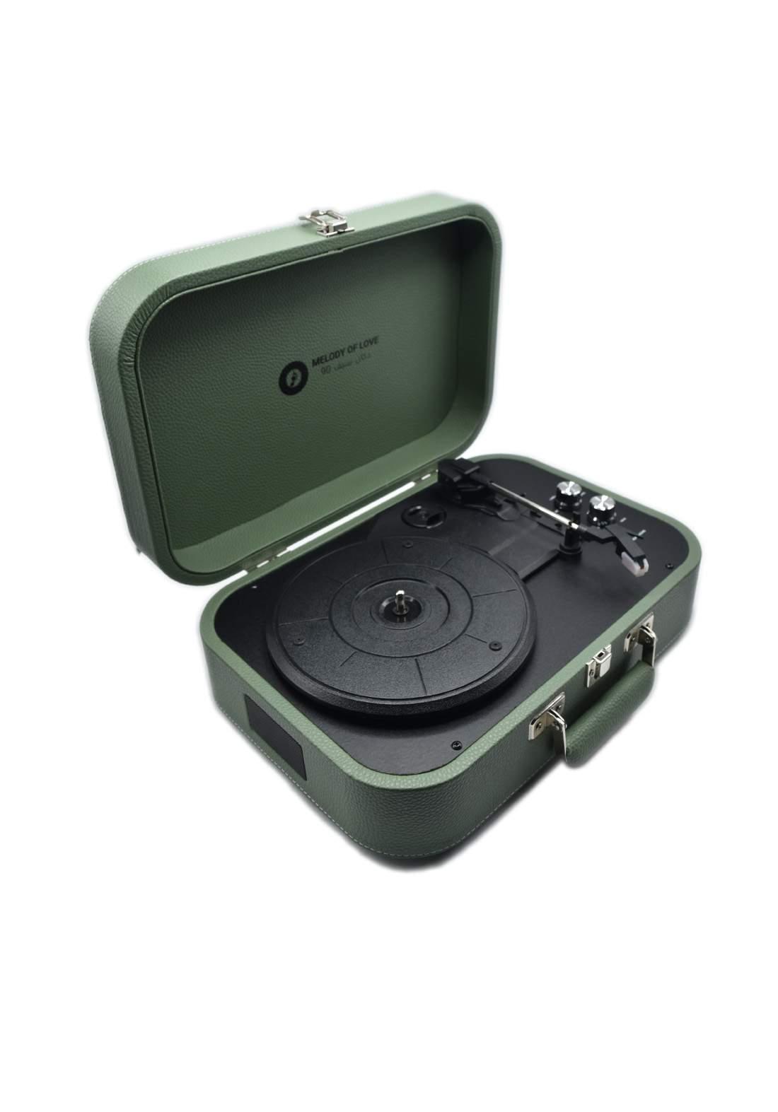 Retro Vinyl Player - Dark Green