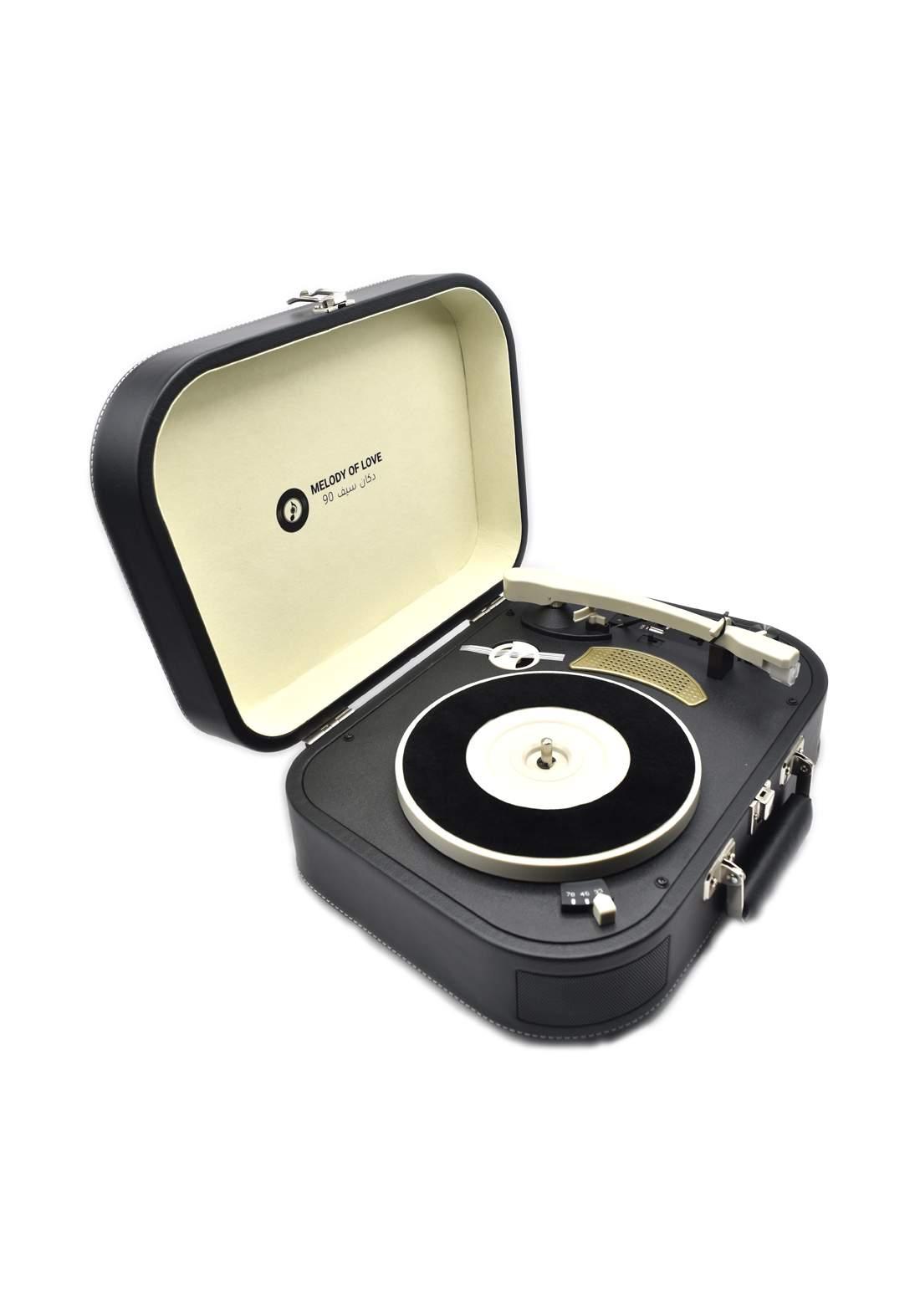 Retro Vinyl Player - Black