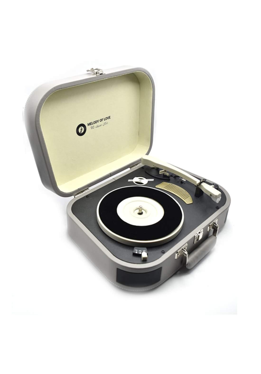 Retro Vinyl Player - Grey