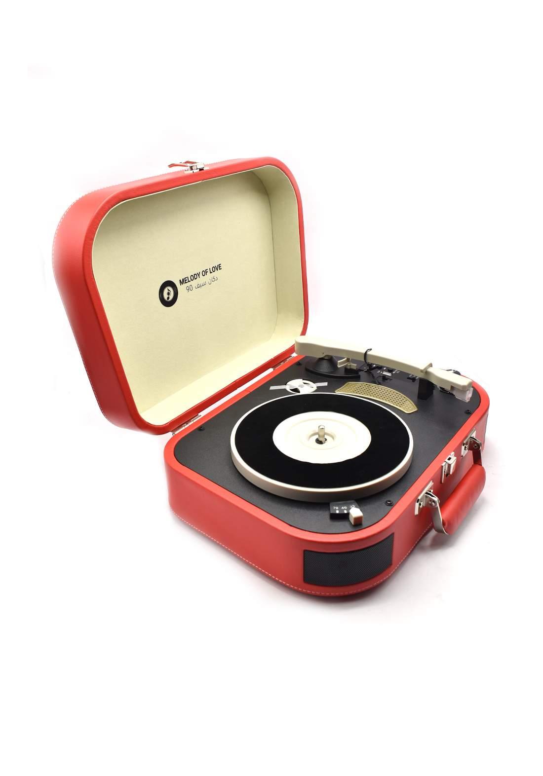 Retro Vinyl Player - Red
