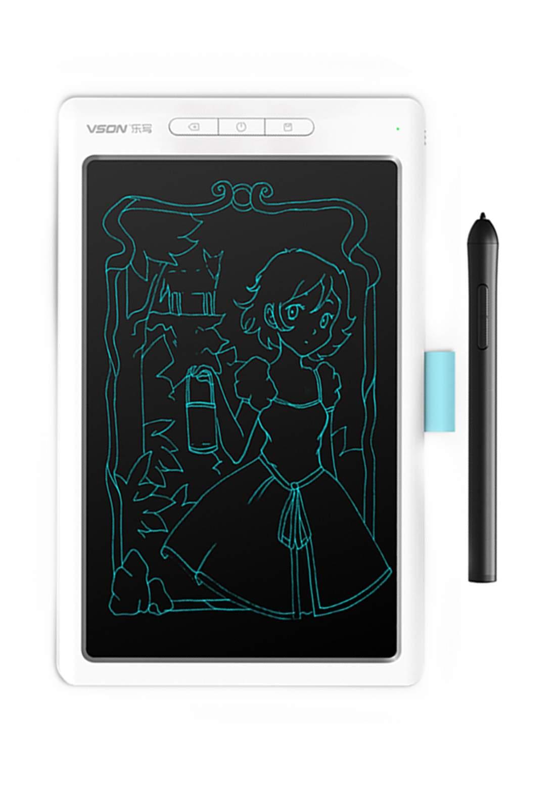 Vson Wp12 Graphical Tablet - White  لوح رسم وكتابة ذكي
