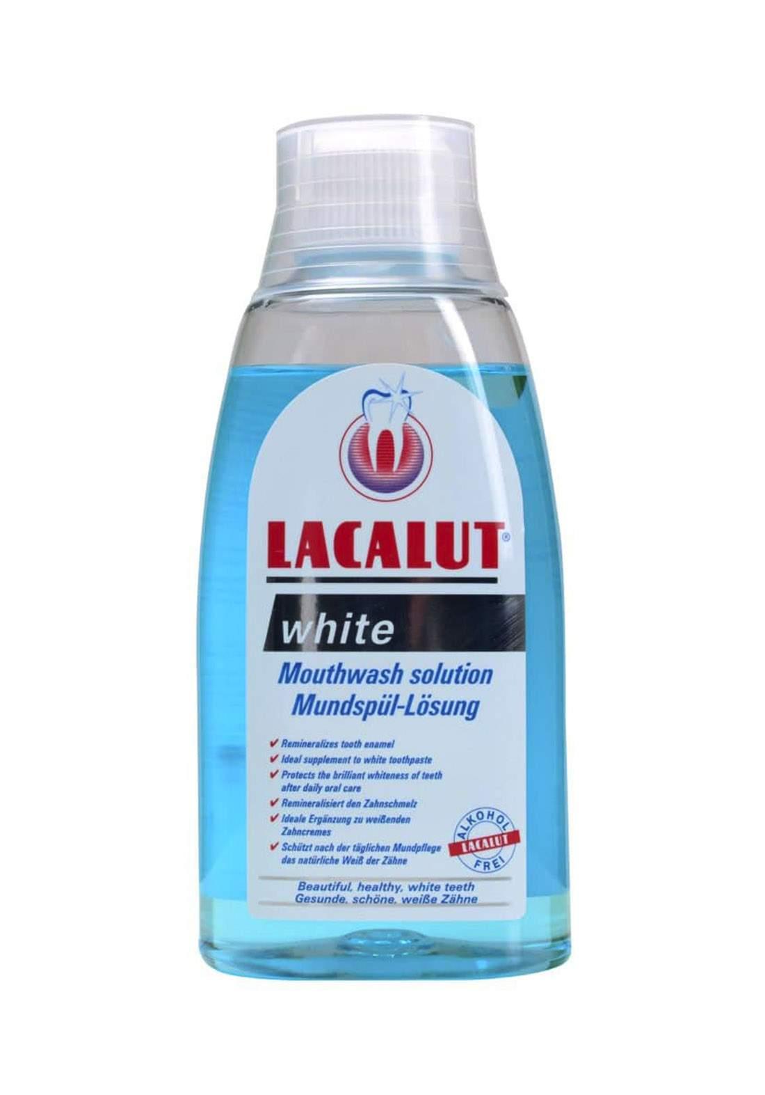 Lacalut Sensitive Antiplate Mouthwash 300ml Crushed غسول فم