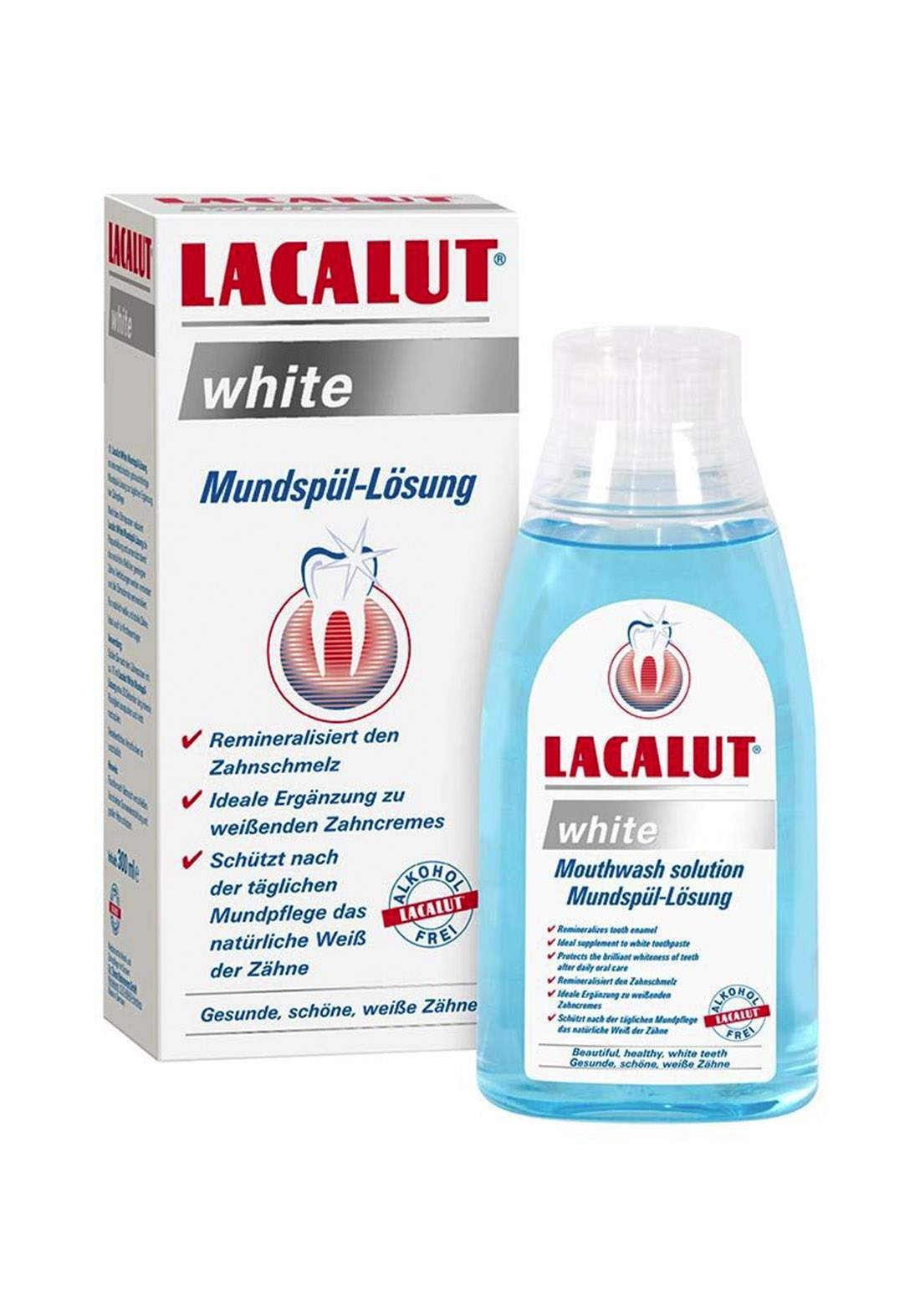 Lacalut White Mouthwash 300ml Crushed غسول فم