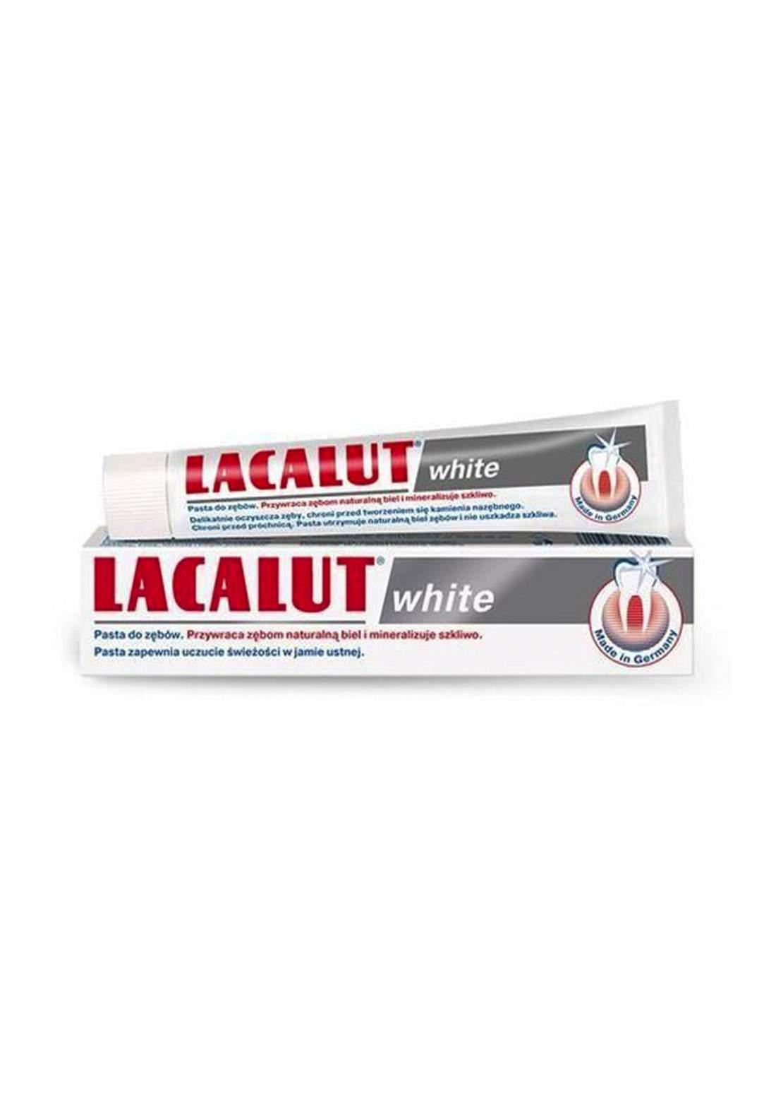 Lacalut White Toothpaste 75ml معجون الأسنان