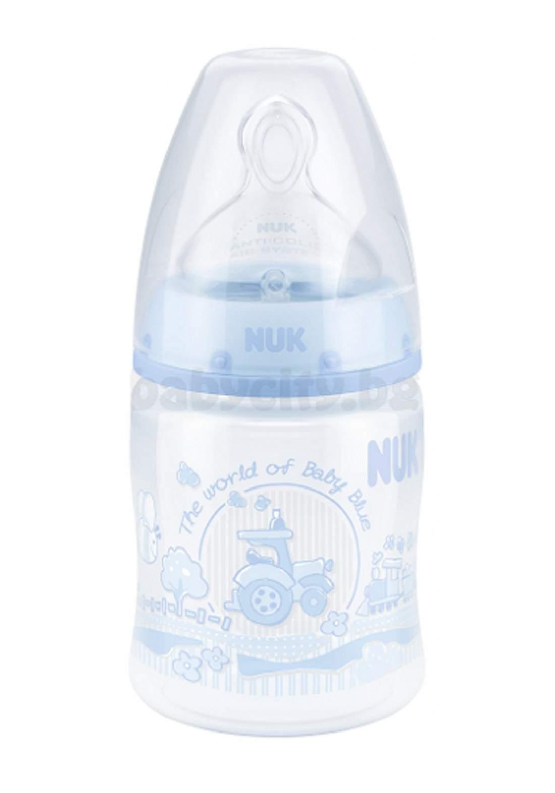 Nuk First Choice  PP Bottle Baby Blue 150ml 0-6 months رضاعة أطفال
