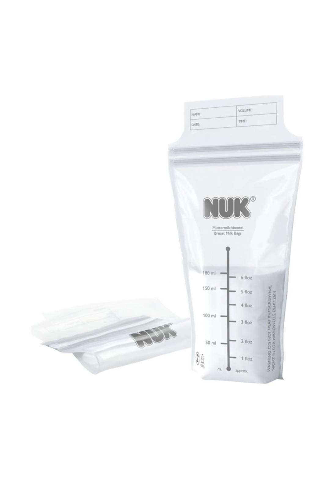Nuk Breast Milk Bags 25 Pcs حافظة تخزين حليب الأم