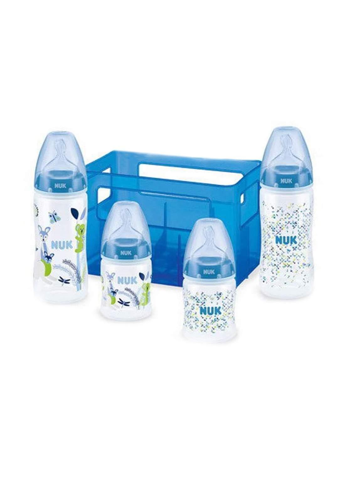 Nuk First Choice  Starter Bottles Set Boy    سيت رضاعات للأطفال حديثي الولادة