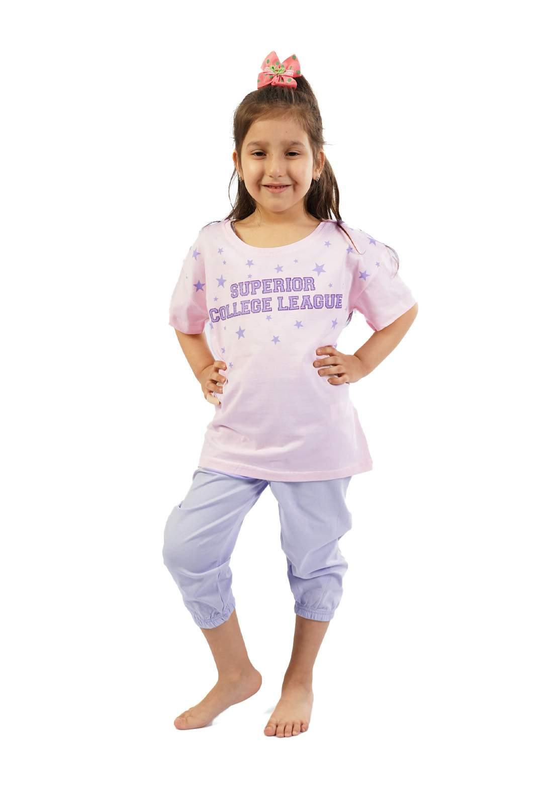 سيت برمودة بناتي وردي اللون من  Enki