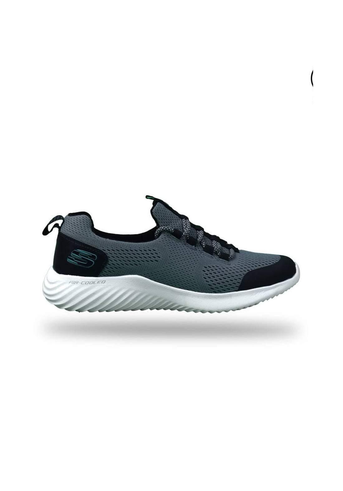 حذاء رجالي رياضي رصاصي اللون من skechers