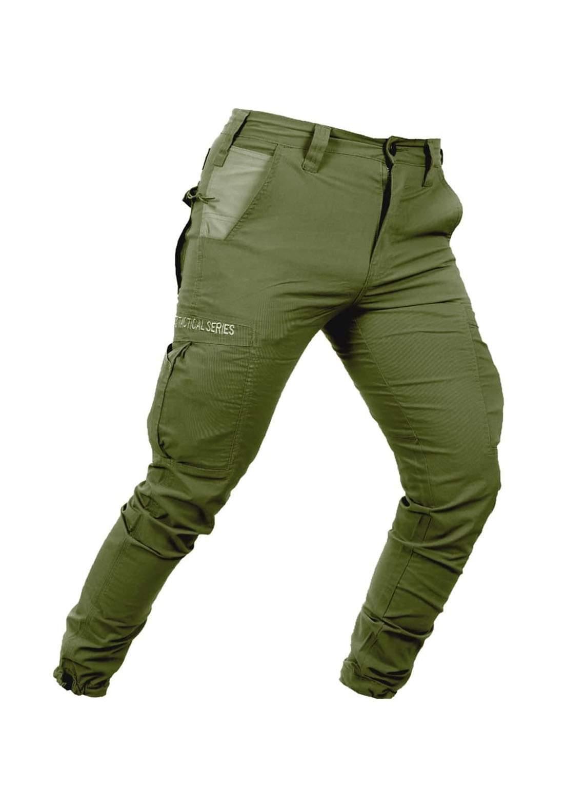 بنطلون رجالي اخضر اللون من ماركة 726
