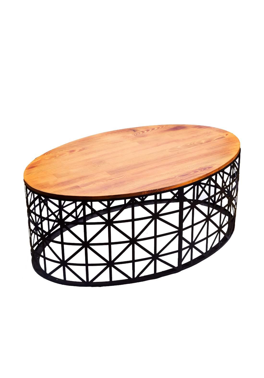 طاولة وسطية خشب صنوبر طبيعي من ايوانكو