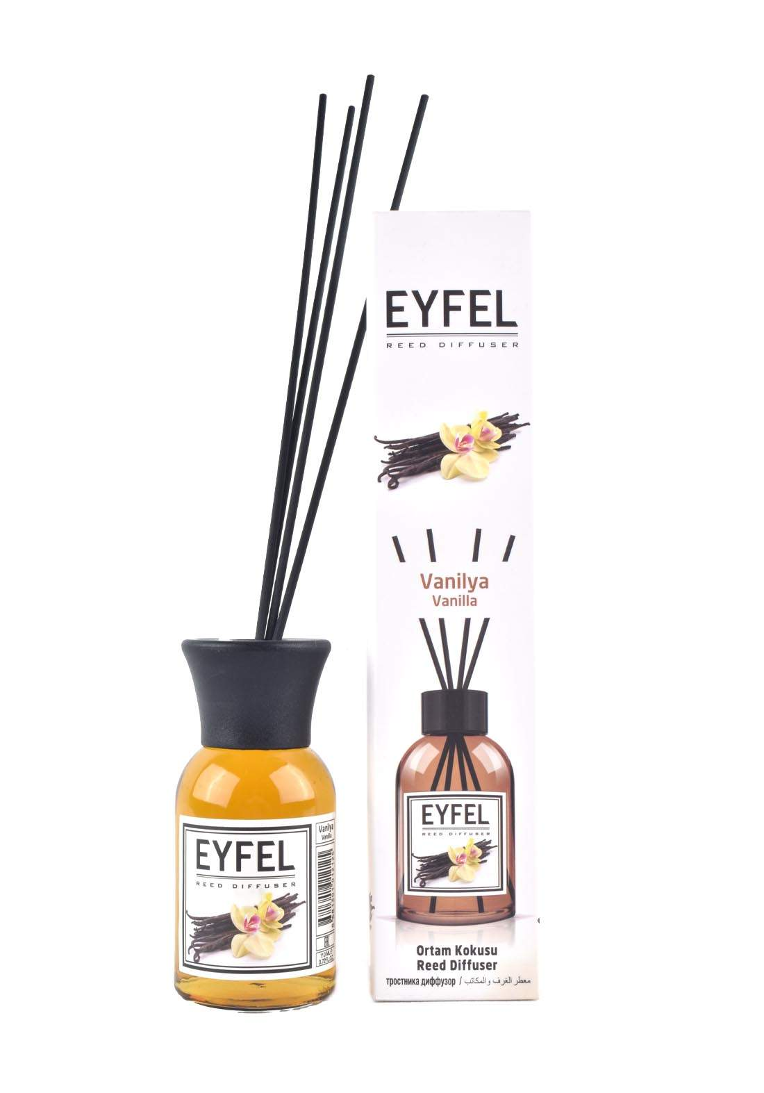 Eyfel Reed Diffuser Vanilla معطر جو برائحة الفانيلا
