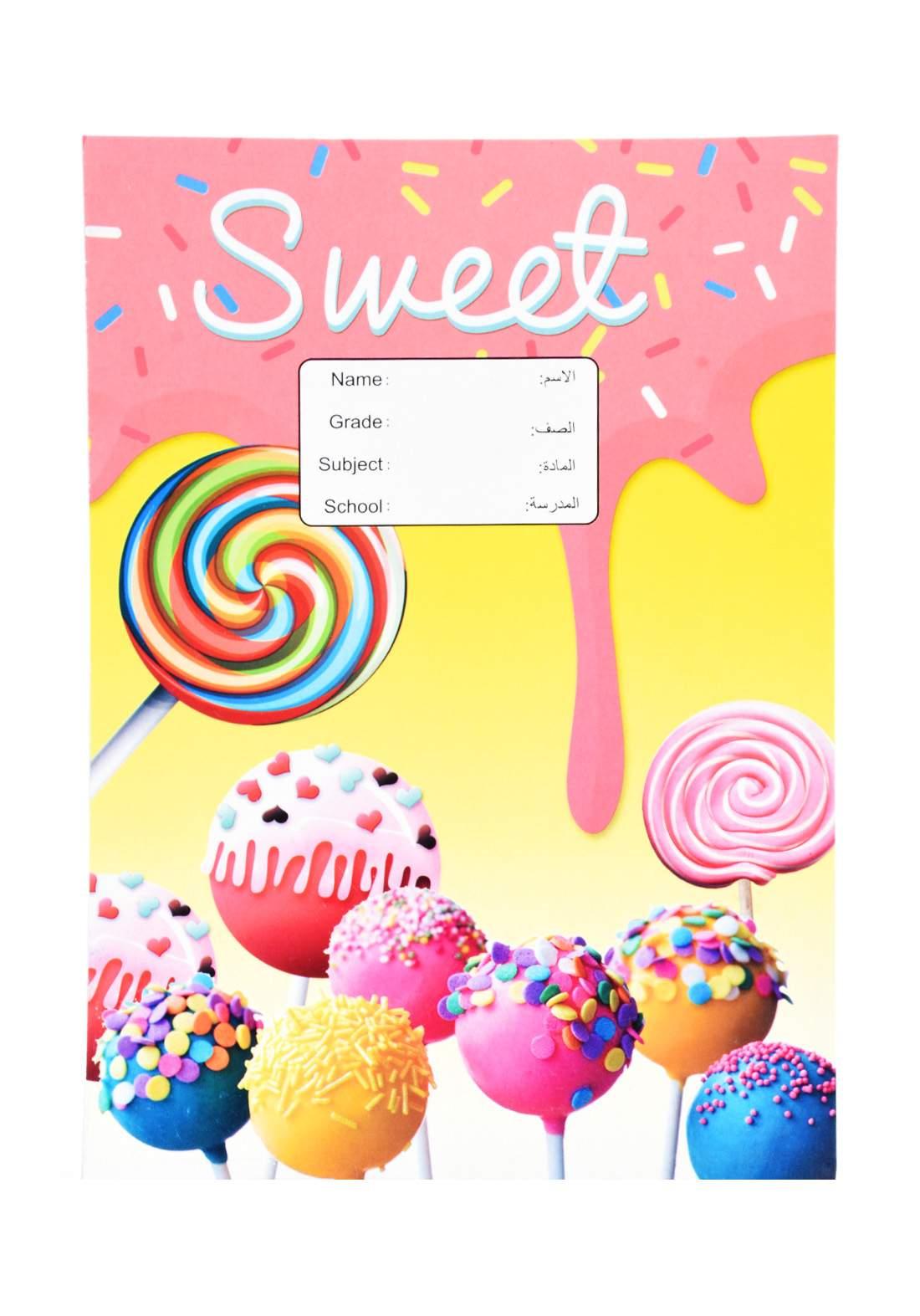 دفتر عربي 52 ورقة برسمة الحلوى F-131