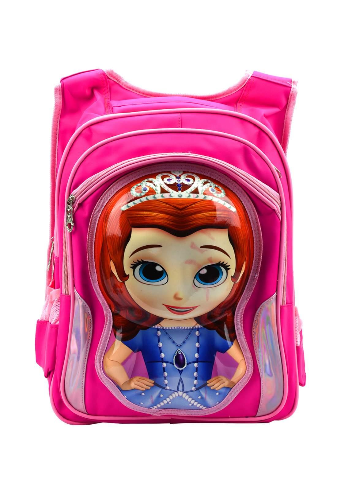 حقيبة ظهر مدرسية وردي أللون (M55-5)