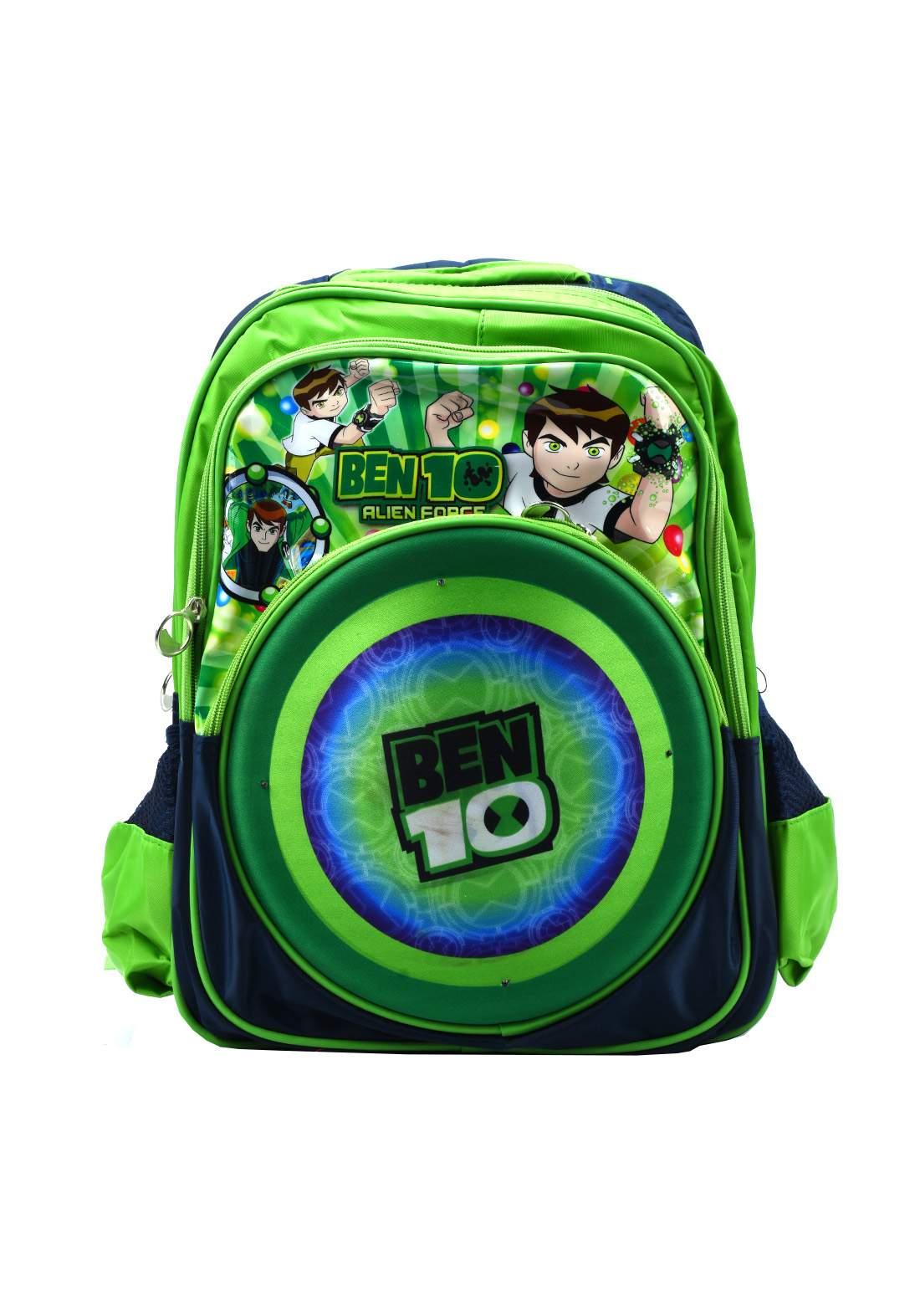 حقيبة ظهر مدرسية خضراء أللون (M175-2)