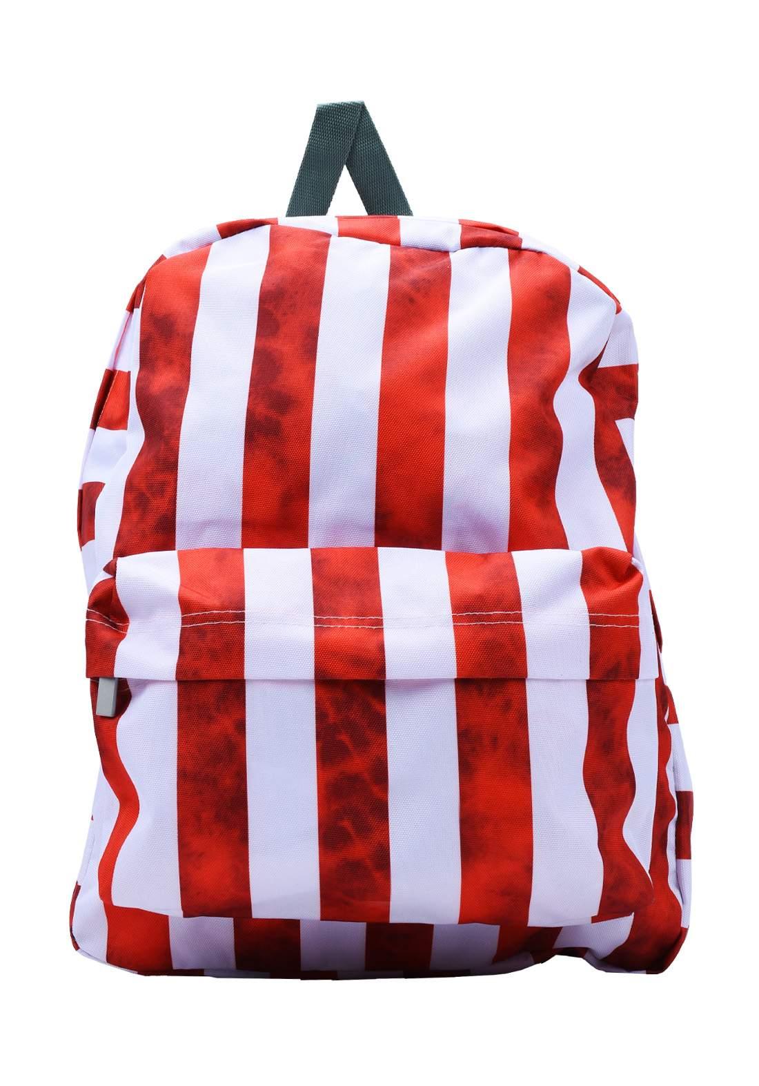 حقيبة ظهر مدرسية أبيض وأحمر أللون