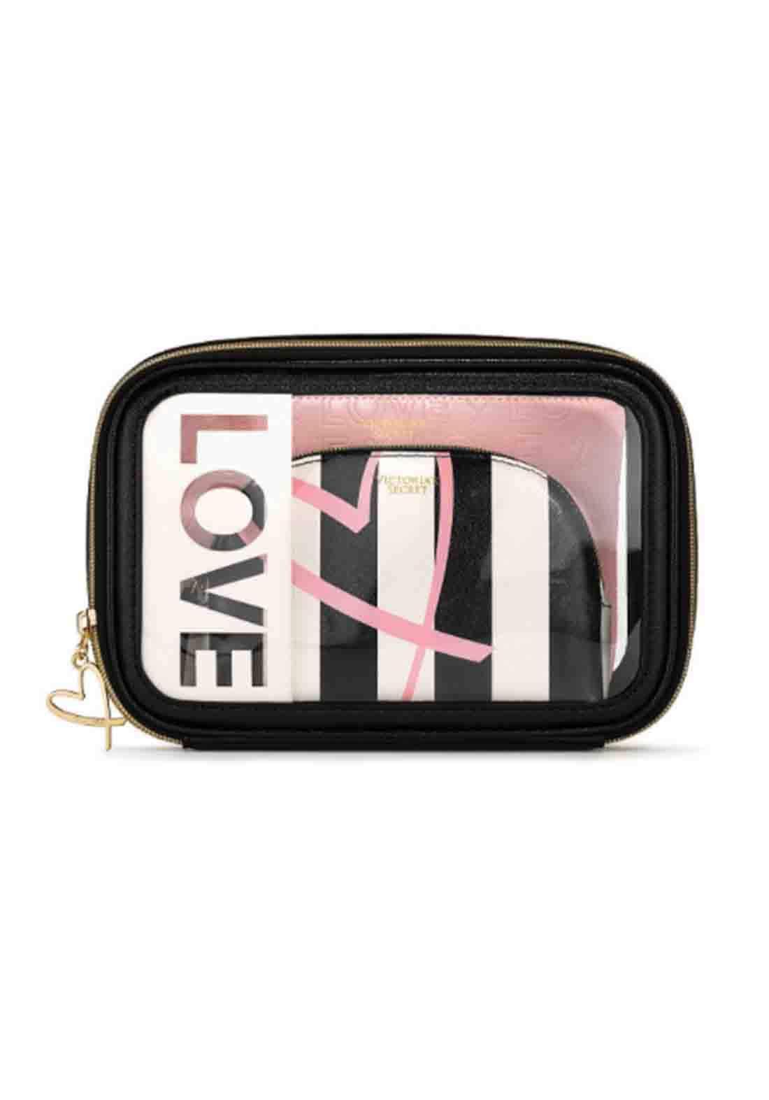 Victoria's Secret Cosmetic Bag 3pcs  حقيبة مكياج