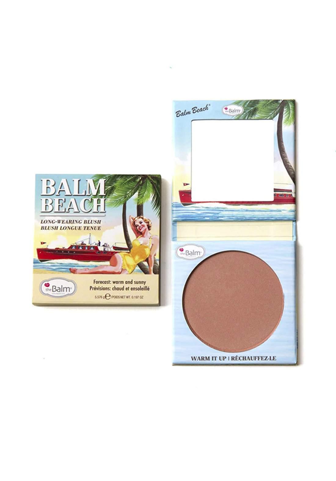 The Balm Beach Blush for Women  Blush Pink 5.576g أحمر خدود
