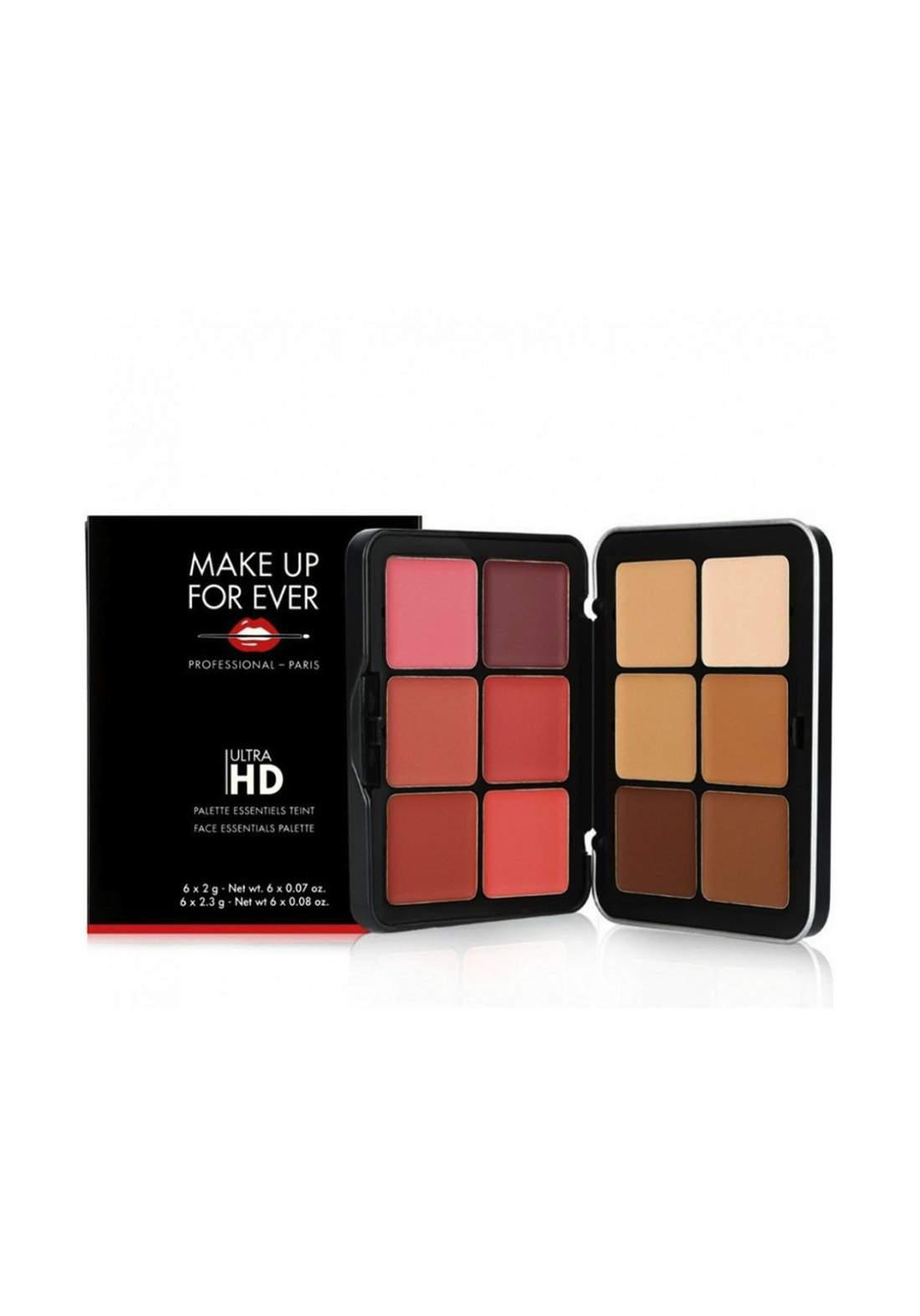 Make Up For Ever Eyeshadow Palettes Ultra Hd Face Essentials Palette  258G علبة أحمر خدود