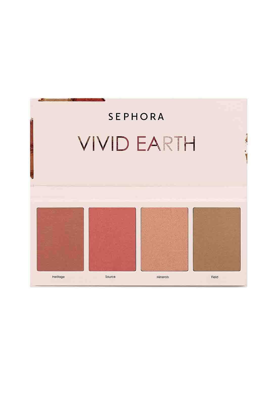 Sephora Collection Vivid Earth Face Palette - Pink Minerals  علبة أحمر خدود