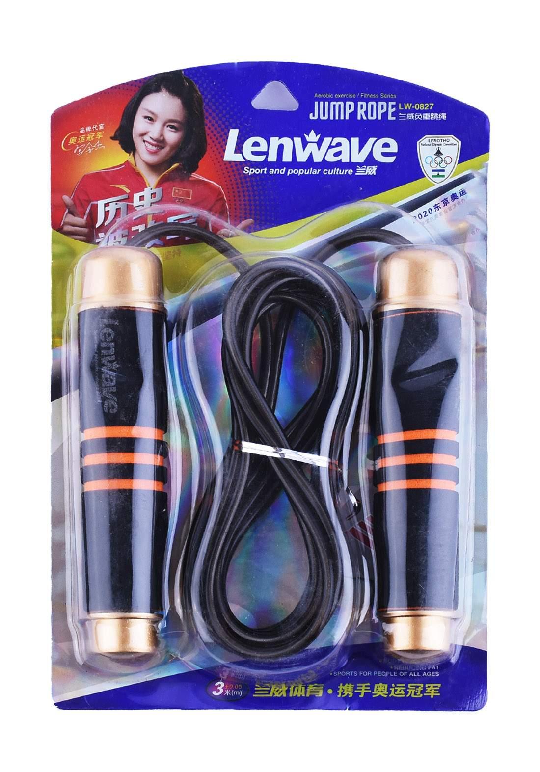 حبل رياضة من  Lenwave اسود اللون