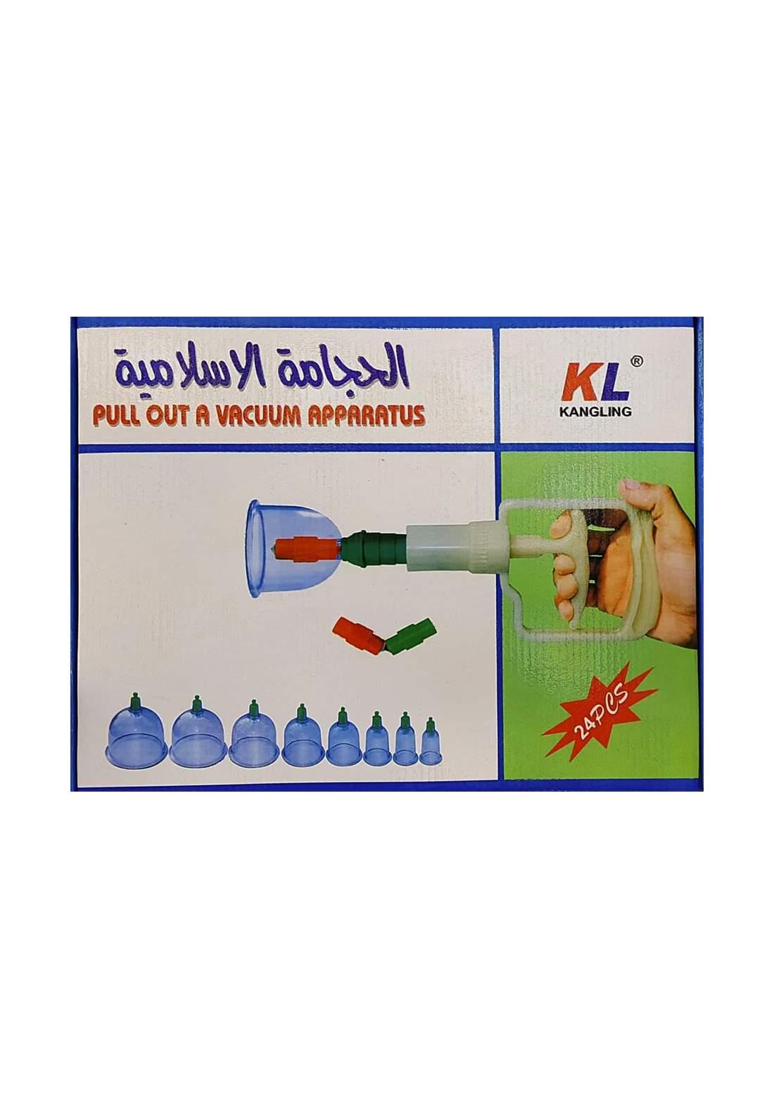 Pull Out a Vacuum Apparatus 24 Pcs سيت الحجامة المنزلي
