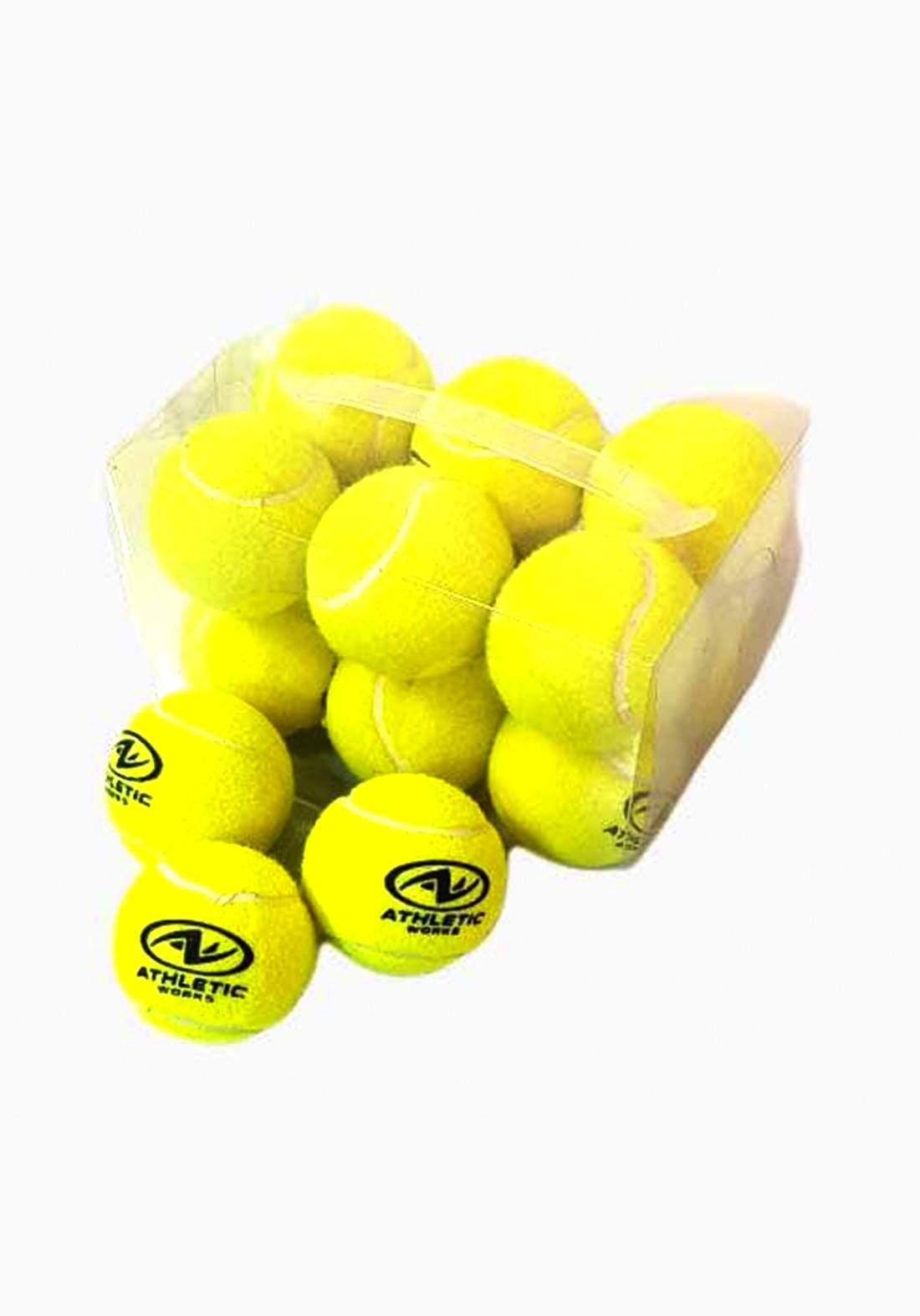 Athletic Tennis Ball Set 12 Pcs سيت كرات تنس