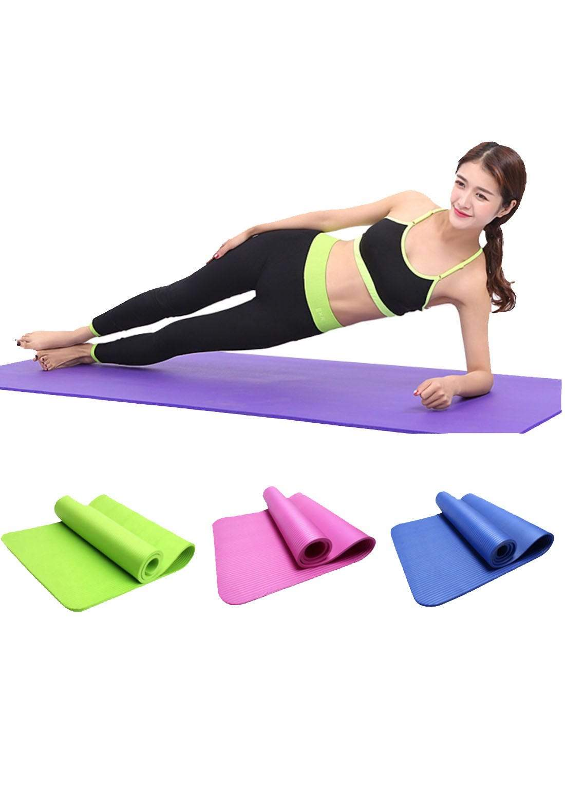 Studio Grade Yoga Mats with Carry Strap بساط يوغا للتمارين الرياضية