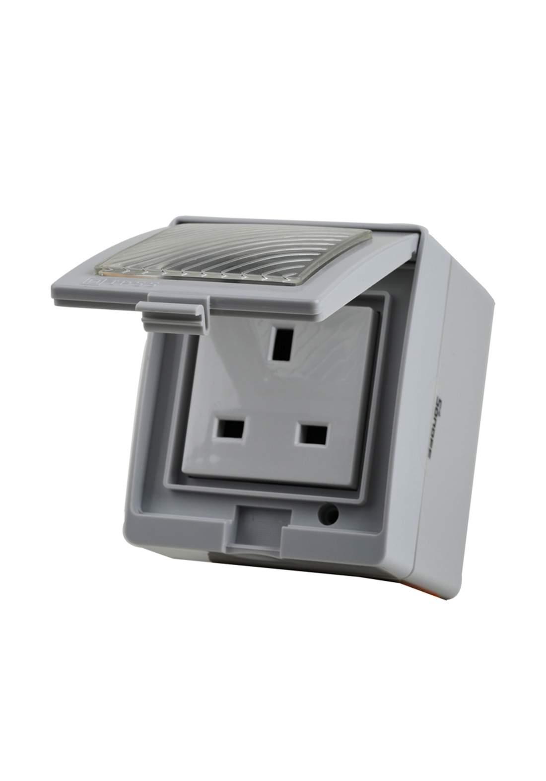 Sonoff S55TPG Wi-Fi Smart Waterproof Socket UK Plugمقبس ذكي مقاوم للماء