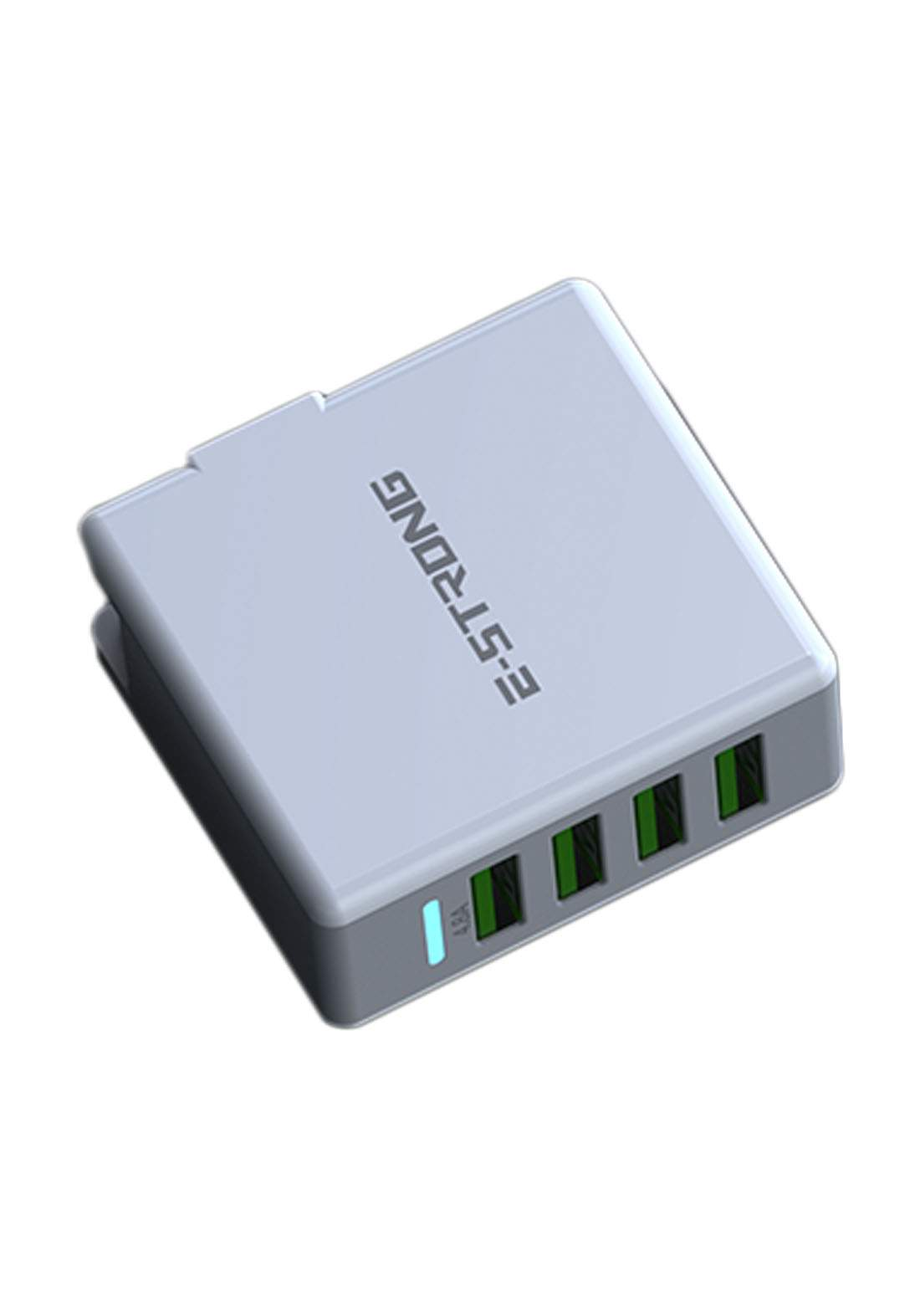 Estrong ES-D34 4 Port USB High Speed Charger - White