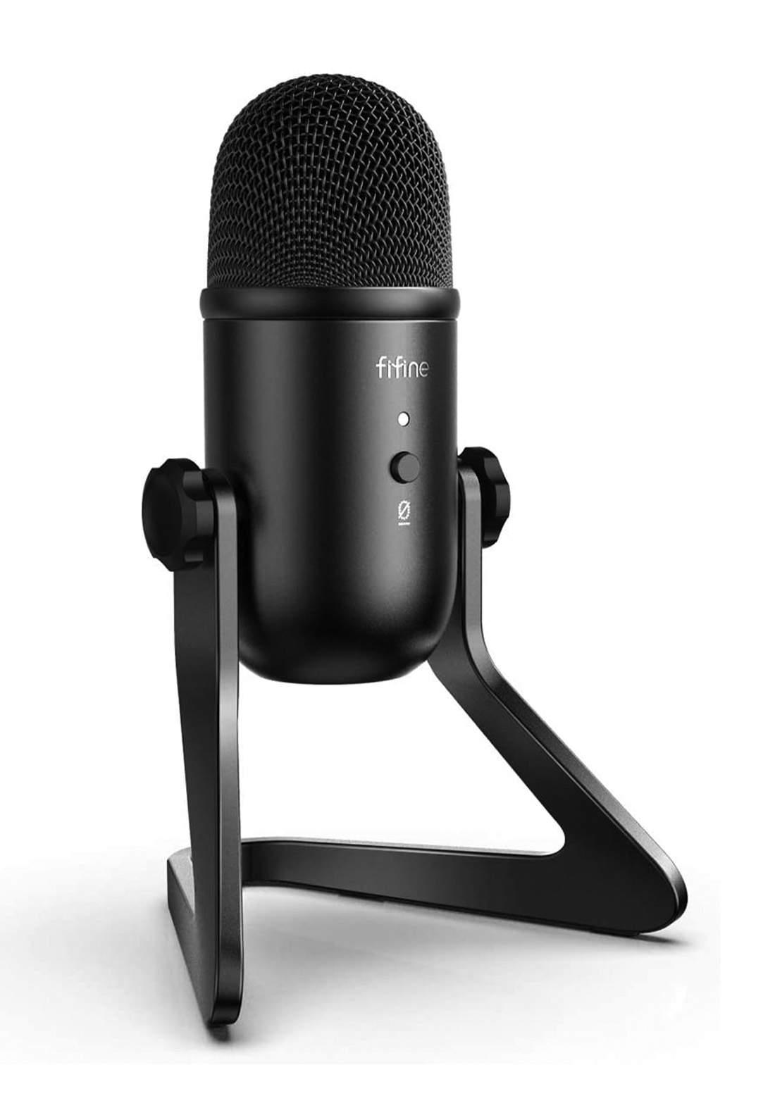 Fifine K678 USB Microphone for PC Recording - Black مايكرفون