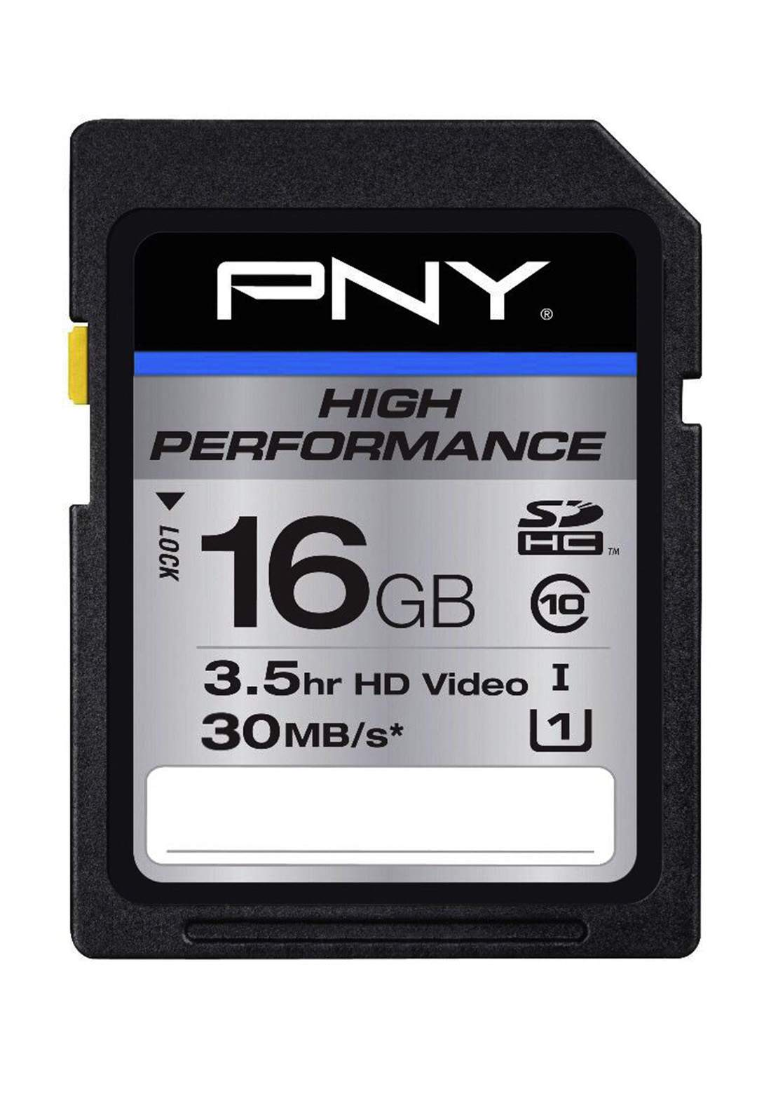PNY High Performance 16GB SDHC memory card بطاقة ذاكرة